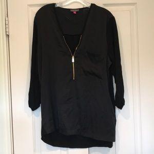 Vince Camuto black zip tunic